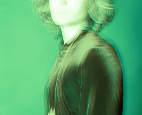 Green monochrome spiritual photography Skip Ros - Ruud van Ooij Amsterdam photography