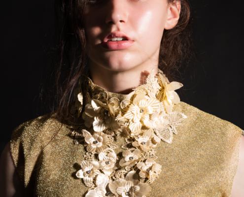 Golden top dark photography - Fashion editorial Ruud van Ooij