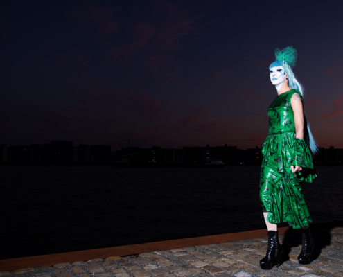 Fashion editorial drag queen Belle Dommage - Ruud van Ooij